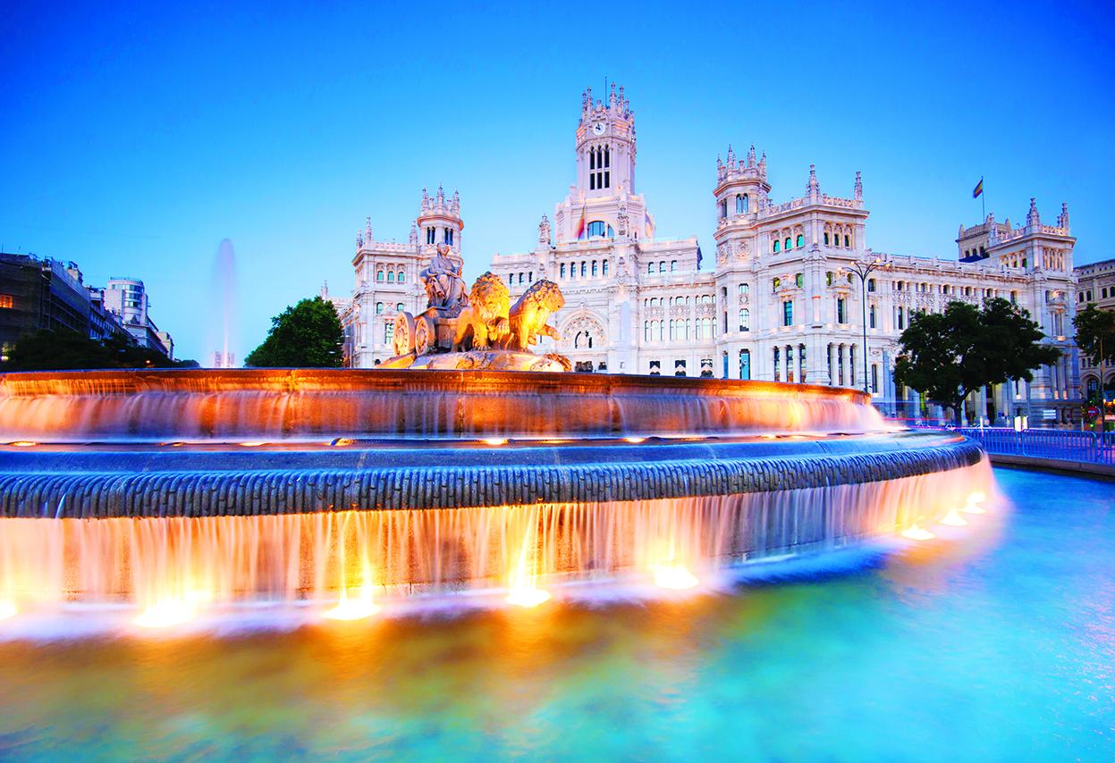 Plaza de la Cibeles Madrid, Spain.