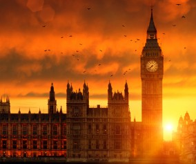 Big Ben at Sunset, London, England